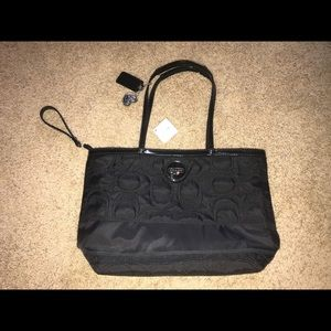 brand new never used black coach bag!